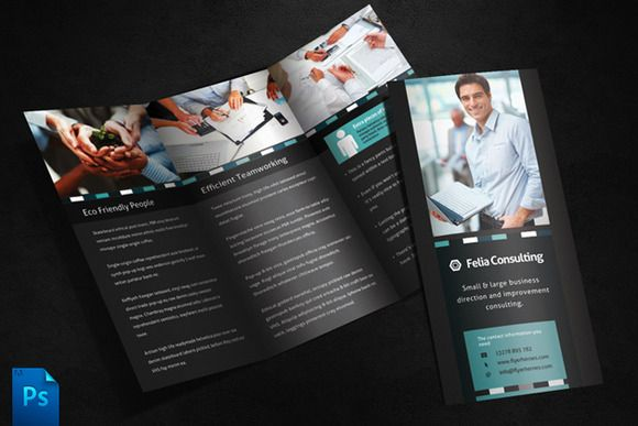 Check out Felia 3 Fold Brochure Template by Quickandeasy on Creative Market
