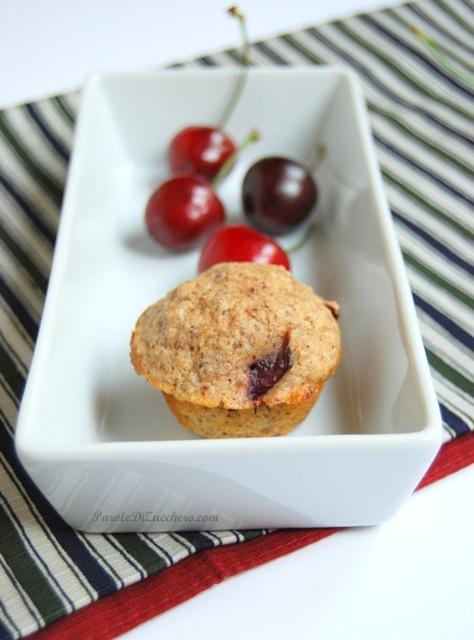 Muffin integrali con ciliege