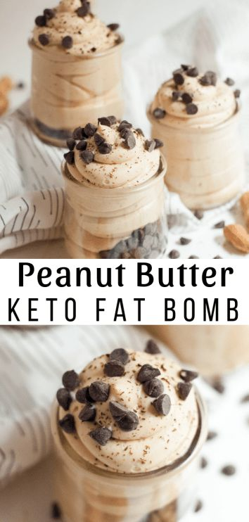 Erdnussbutter Fluff Fat Bomb / Keto Friendly & Low Carb