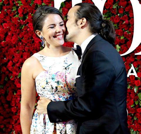 Vanessa Nadal and Lin-Manuel Miranda attend the 70th Annual Tony Awards.