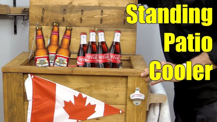 How to Make a Standing Patio Cooler (Ice Chest). #DIY #wood