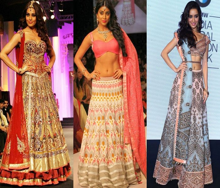 Lehenga Hairstyles for Round Face