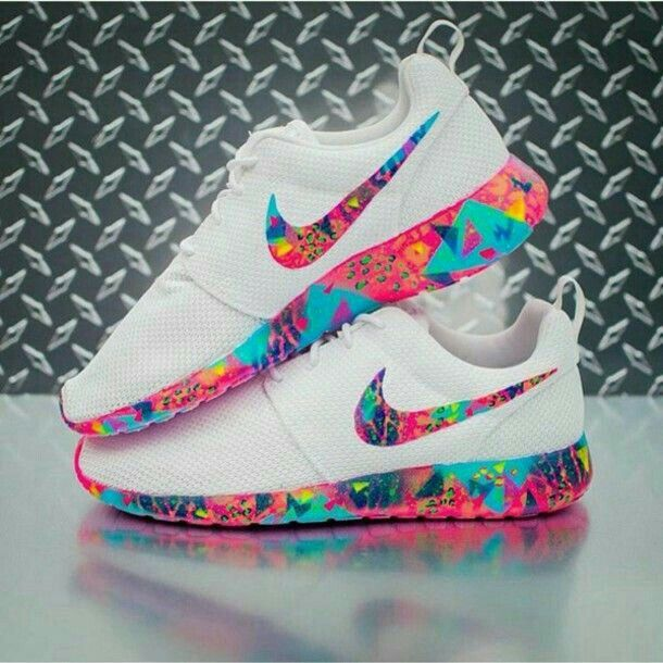 Nike Roshe Courir Blagues Couleurs Vives