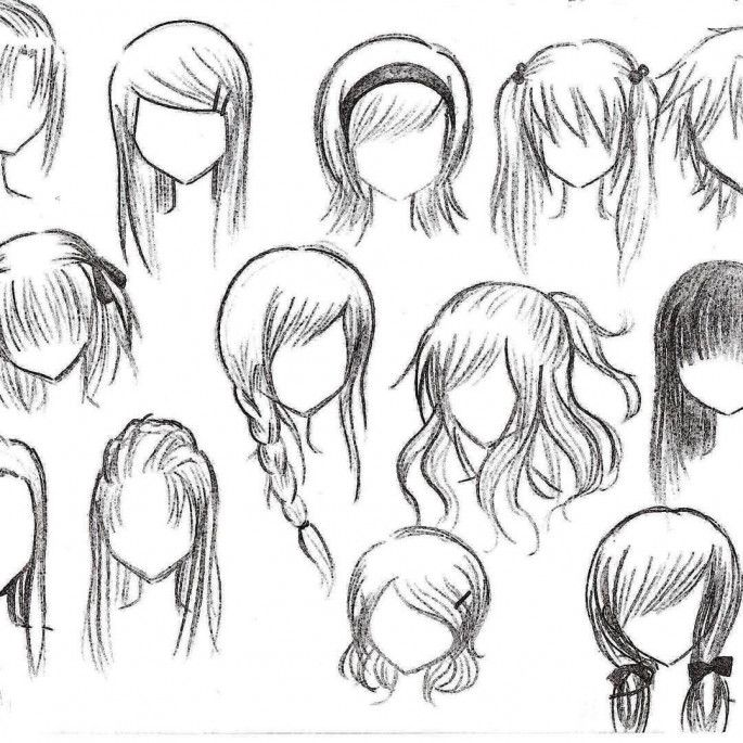 Pin On Anime Hairstyles