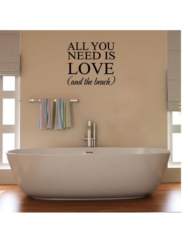 all you need is love and the beach vinyl wall words decal sticker made from 10 year high quality vinyl which leaves no residue upon removal