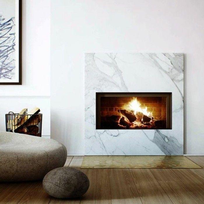 Modern Kamin marmor einbauen