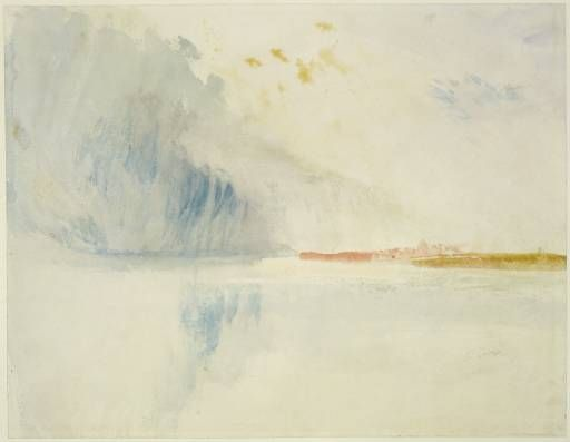 Joseph Mallord William Turner 'Storm Cloud over a River', 1845 - Watercolour on paper -  Dimensions Support: 233 x 286 mm -  © The Fitzwilliam Museum, Cambridge 2003