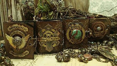 Altered Alchemy-Luthien Thye - love these Harry Potter-themed journal necklaces!