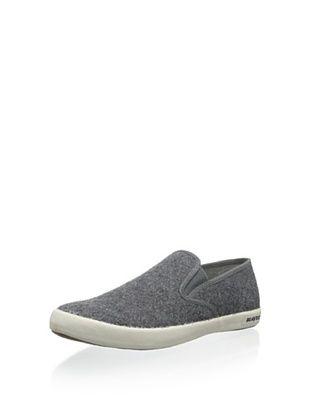 50% OFF Seavees Men's Baja Slip-on Shoe (Pewter Boiled Wool)
