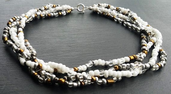 Beaded choker necklace from Dorsetcreations