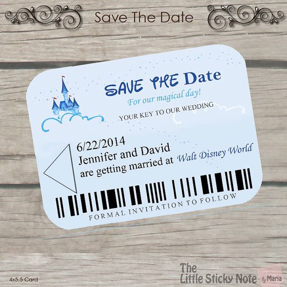 The names!!! Look at the names!! Too perfect. Not getting married in Disney but he did propose there.