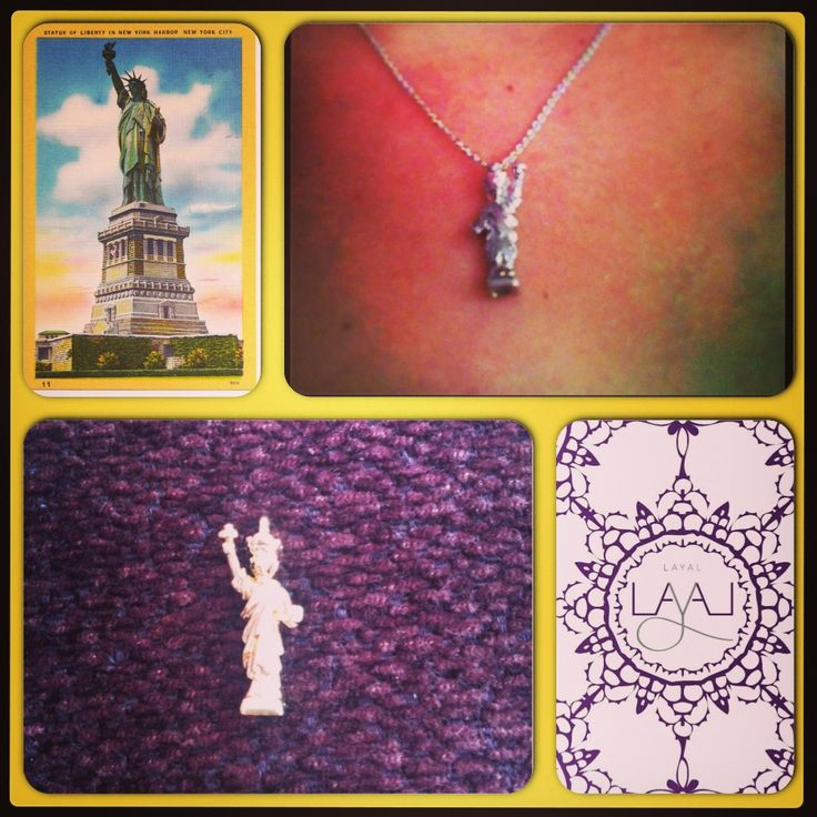 Cute miniature statue of liberty necklaces layal glyfada