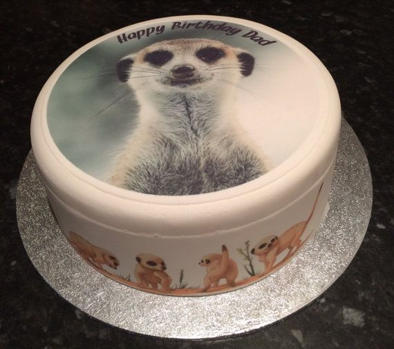Meerkat+pre-cut+edible+Icing+Fondant+Sugar+topper+by+TheCaker