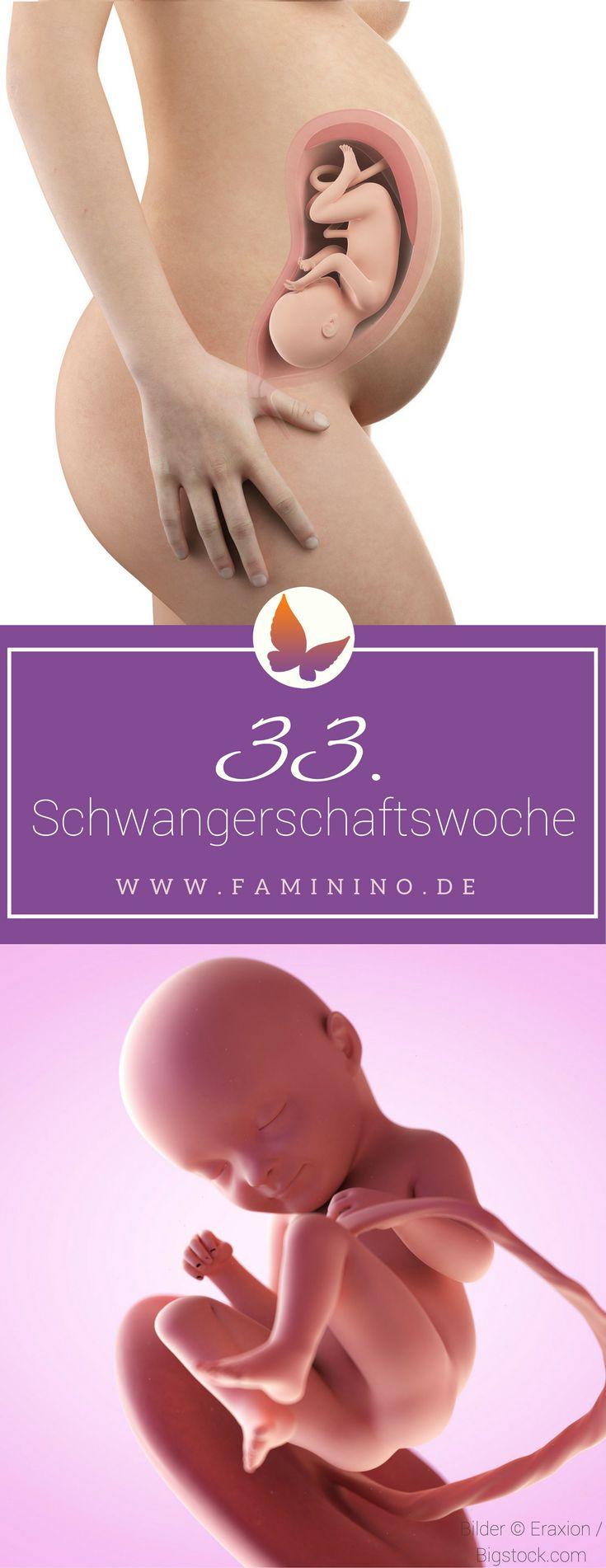 33. SSW (Schwangerschaftswoche): Dein Baby, dein Körper, Beschwerden und mehr