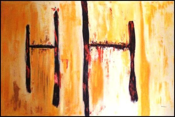 -Abstrato Harmonia 80x120 -Com moldura -Tela pintada à tinta óleo espatulado -Tela pintada por Isa Heusner -FRETE GRÁTIS   --  R$740,00