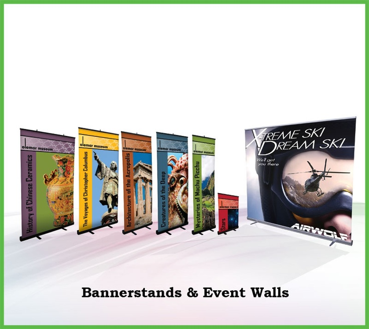 Bannerstands & Event Walls  #kandecompany #tradeshows #events #banners #bannerstands #eventwalls #marketing #advertising