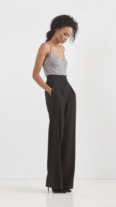 L'Agence // Wide Leg Trouser