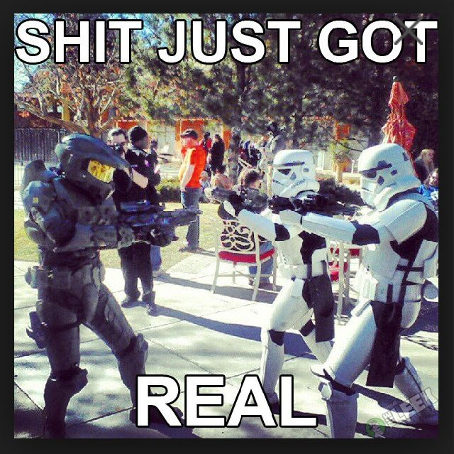 Master Chief vs Stormtroopers  Master Chief always will win