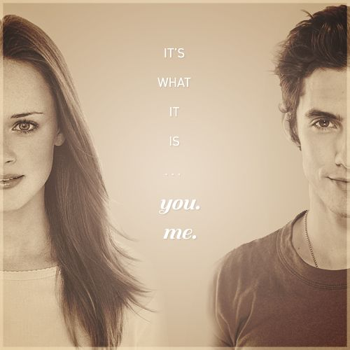 Jess and Rory. Gilmore Girls. Milo Ventimiglia and Alexis Bledel. Gilmore Girls quote from Jess.