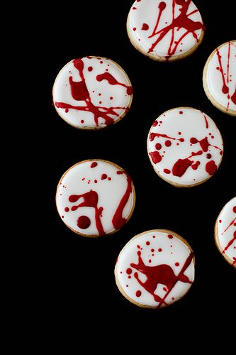 Blood Spatter Cookies   Annie's Eats