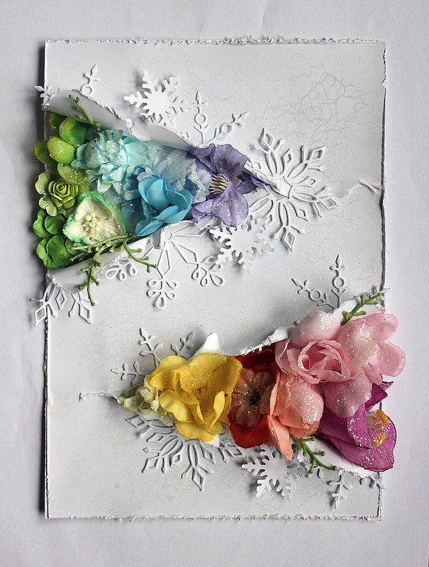 Открытка с цветком самодельная
