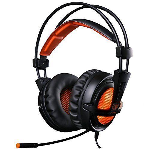 EasySMX [ Dernière 7.1 Stéréo Micro-Casque Gaming ] Casque à l'écoute Ultra-léger 3.5mm Hi-Fi Headset avec LED idéal pour les Amateurs de…