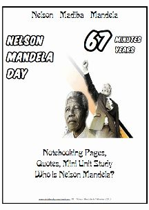 Nelson Mandela Educational Resources, free printable worksheets and activities #SouthAfrica #Madiba #Mandela #Education #Homeschool