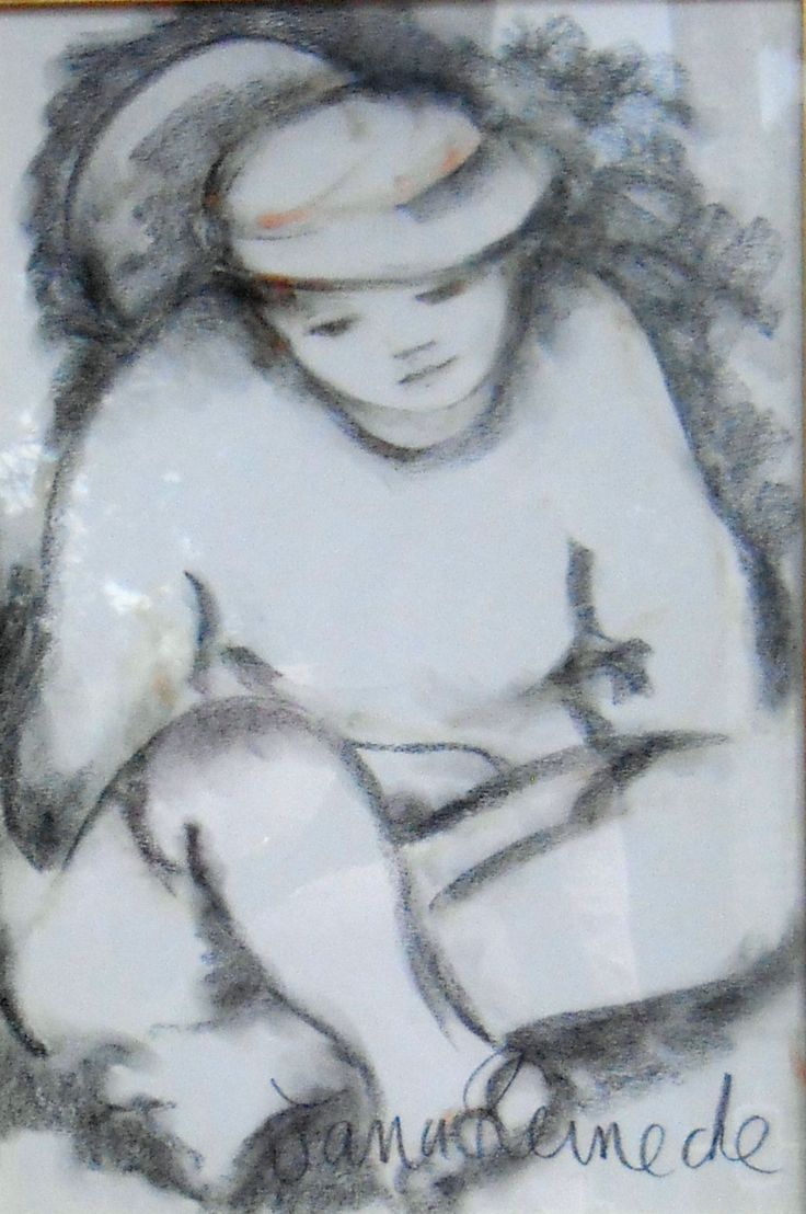 Stillness.charcoal drawing
