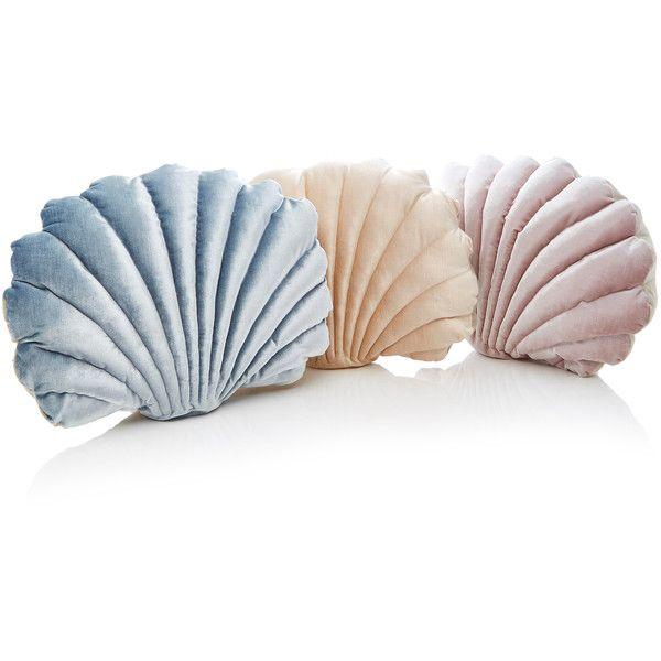 Cosmic Velvet Pillow Shell Pillow Nursery Decor Decorative Pillows Mussel Shell Pillow Velvet Pillow Velvet Shell Pillow