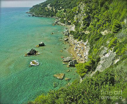 Mirtiotissa Beach . Corfu . Greece.  by  Andrzej Goszcz