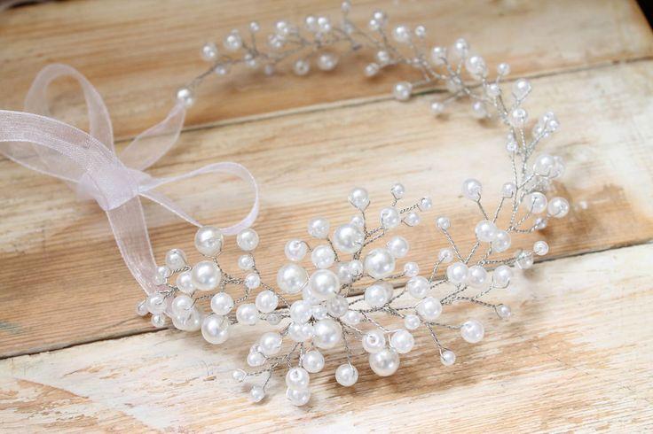 маленькие венки и полу венки для невест из бисера своими руками: 10 тыс…