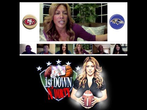 The BIG day is here and 1stDownNDirty is premiering it's FIRST ever Google+ Hangout featuring Kavita Channe & special guests all giving their pick for Sunday ATS.    James Hill   Keith Sims (@ksims69)  Jen Soko (@SokoOnTheRadio)  Sami Channe (@Sami_Channe)  Brian Spector (@Brian_Spec)