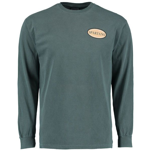 Michigan State Spartans Silhouette Seal Comfort Colors T-Shirt - Green - $39.99