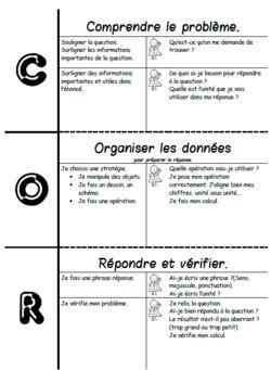 C.O.R:comprendre, organiser et répondre, résolution problème, stratégies, Cp…