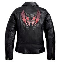 I love my Harley-Davidson leather jacket Jay gave to me for my birthday. He has great taste!