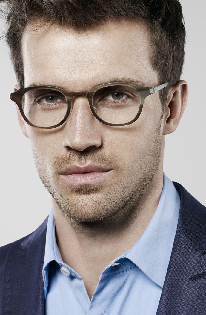 Horn and titanium glasses - by Lindberg
