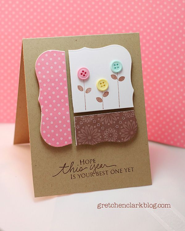 great idea for simple cards - perfect for SU framelits or top note  made by {a little of this & that}