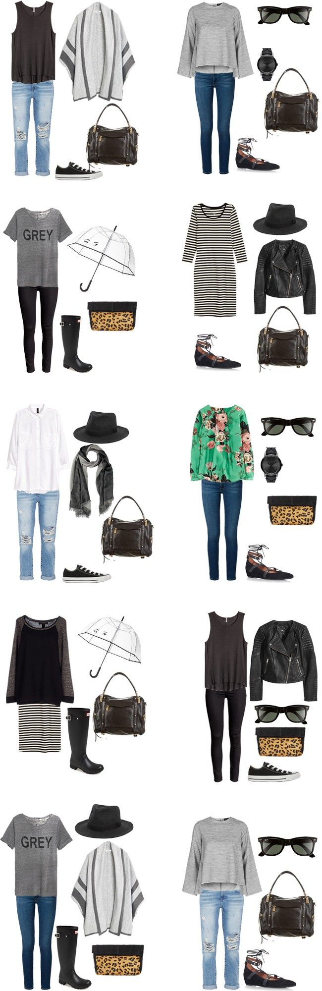 What to Wear in Dublin Outfit Options 1-10 #travellight #packinglight…