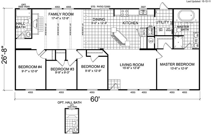 Floor plans for standard floor plan i would make a few for 6 bedroom double wide