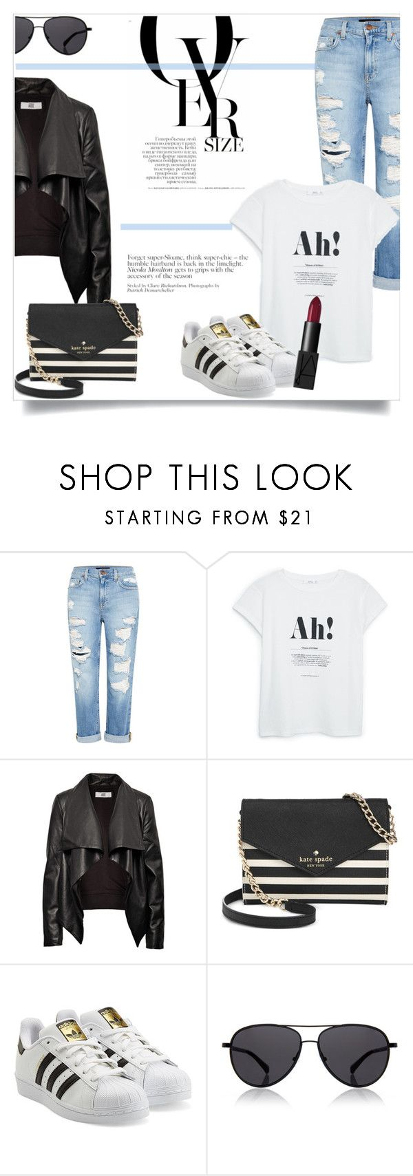 """""""What to Wear: Black Friday Shopping"""" by antemore-765 ❤ liked on Polyvore featuring Genetic Denim, MANGO, HIDE, Kate Spade, adidas Originals, The Row, NARS Cosmetics, women's clothing, women's fashion and women"""
