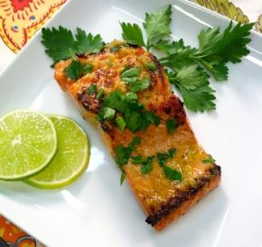 Ginger & lime marinated salmon. use the coconut aminos in place or ...