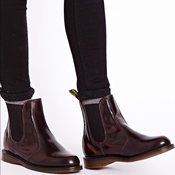 Dr. Martens Cherry Flora Boots Authentic Dr. Martens Cherry Red Flora Boots! ❌No Trade❌All Sales are Final❌No Return❌ Don't be shy to make offers Dr. Martens Shoes Ankle Boots & Booties