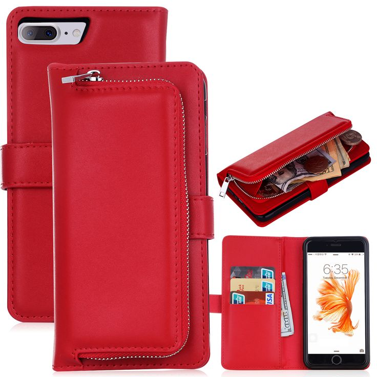 Multifunctional Detachable Wallet Card-Slots PU Leather Case for iPhone7/7Plus/6/6s/6Plus/6sPlus