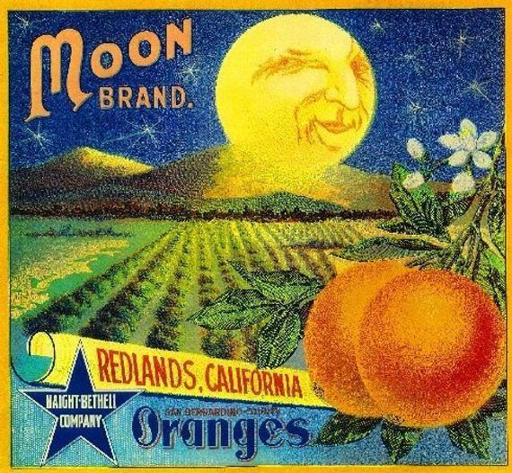 Redlands San Bernardino Tahoe Canoe Orange Citrus Fruit Crate Label Art Print