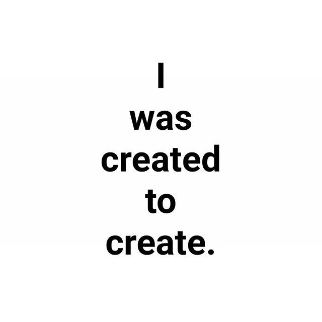 Although I would argue I wasn't created at all.