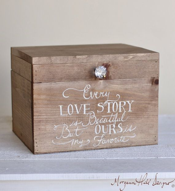 1000 images about card box – Wedding Card Keepsake Box