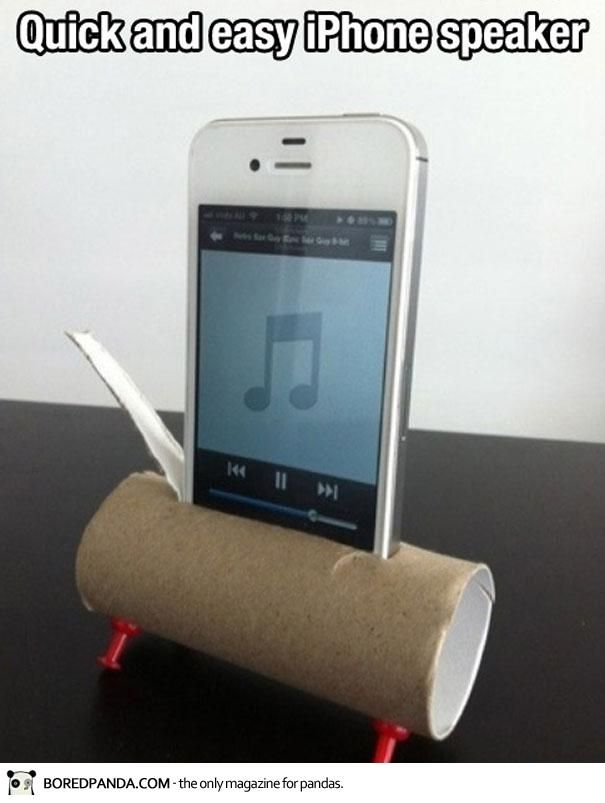 #iPhone #speaker. This really works! Great for cookouts, parties, etc for when you don't want to drop $$ on travel speakers