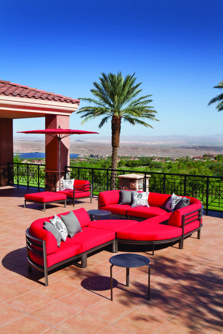 Enough space and comfort for everyone to sit and enjoy the view!   http://hauserstores.com/collections/outdoor-sectionals