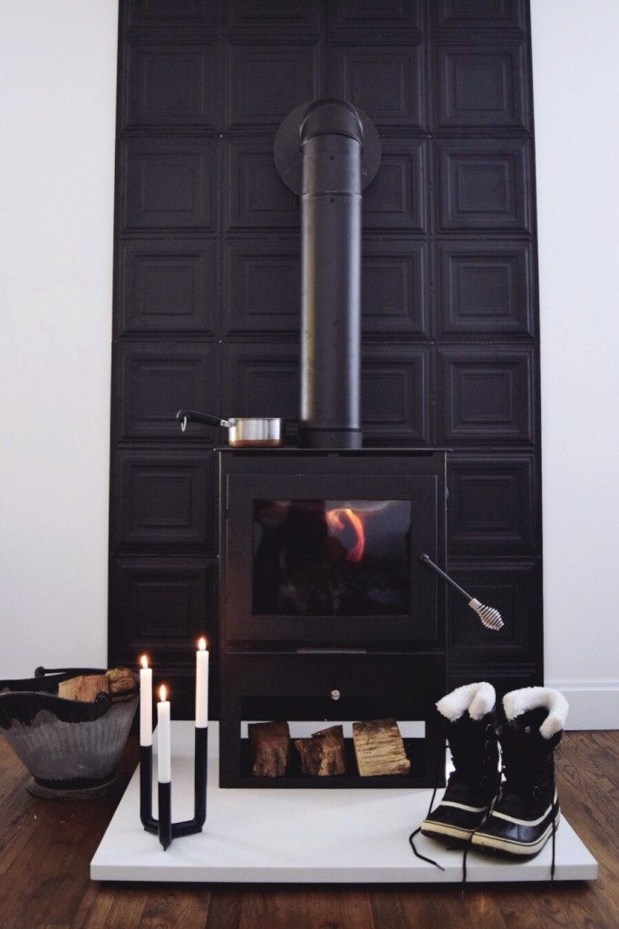 How To Diy A Wood Stove Heat Shield A Small Life Wood Stove Fireplace Wood Stove Wall Wood Stove Hearth
