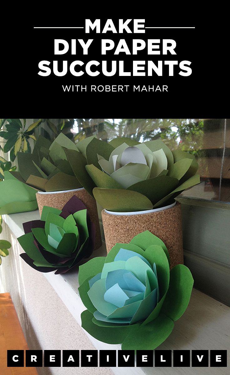 These adorable paper succulents are easy to make and really pop on a party tablescape. Learn how to make them with instructions from Rober Mahar on the CreativeLive blog.
